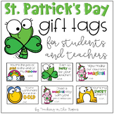 St. Patrick's Day Gift Tags for Students (and Colleagues)