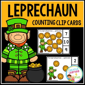 St. Patrick's Day Gold Coin Counting Clip Cards