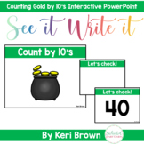 Counting to 100 by 10's - See it. Write it. Interactive Po