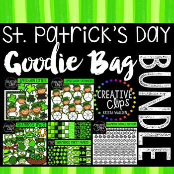 St. Patrick's Day Goodie Bag Bundle {Creative Clips Digital Clipart}