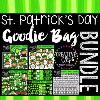 St. Patrick's Day Goodie Bag Bundle {Creative Clips Digital Clipart}