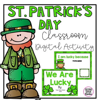 St. Patrick's Digital Classroom Activity