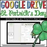 St. Patrick's Day Google Drive Digital Interactive Activity Pack (Editable)