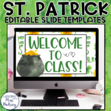 St. Patrick's Day Google Slides Templates Distance Learning