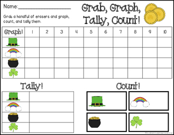 St. Patrick's Day Grab, Graph, Tally, Count