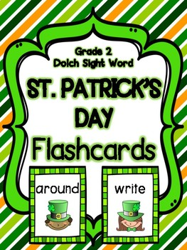 St. Patrick's Day Grade 2 Dolch Sight Word Flashcards