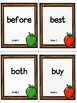 Grade 2 Dolch Sight Word Flashcards Apple theme