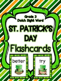 St. Patrick's Day Grade 3 Dolch Sight Word Flashcards