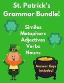 St. Patrick's Day - Grammar Bundle! (Similes, Metaphors, Adjectives, & More!)