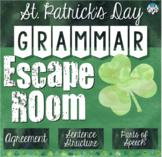 St. Patrick's Day Grammar Escape Room