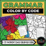 St. Patrick's Day Grammar   St Patricks Color By Code   Pa