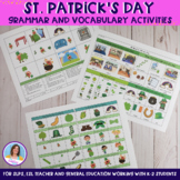 St. Patrick's Day Grammar and Vocabulary Activities for K-