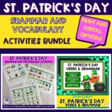 St. Patrick's Day Grammar and Vocabulary Printable and Dig