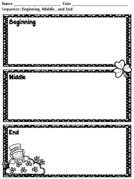 St. Patrick's Day Graphic Organizer Pack