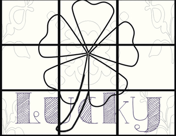 St. Patrick's Day Grid Drawing