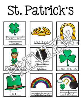 St. Patrick's Day Guided Writing Pattern Prompts for Emerging Writers