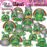 St Patrick's Day Happy Monsters Clip Art
