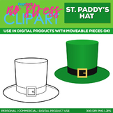 St. Patrick's Day Hat Clipart Single   Digital Use Ok!