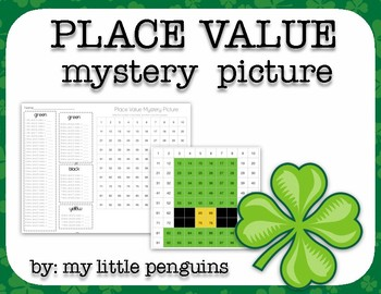 St. Patrick's Day Hat Mystery Picture Place Value