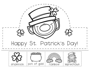 St. Patrick's Day Hat, necklace and watch