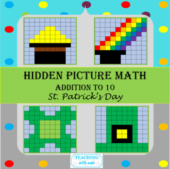 St. Patrick's Day Hidden Pictures: Addition to 10