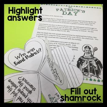 St. Patrick's Day History Reading and Craftivity