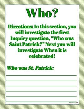 St. Patrick's Day History Workbook