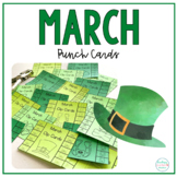 St. Patrick's Day Hole Punch Cards | Fine Motor Activity and Practice