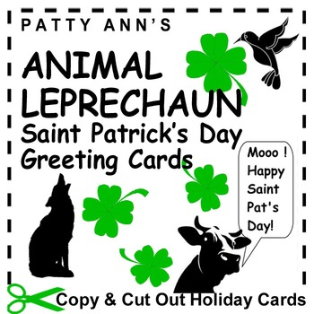St. Patrick's Day Greeting Cards ~Copy & Cut Out & Give Ou