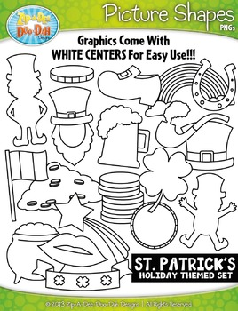 St. Patrick's Day Holiday Picture Shapes Clipart Set — Inc