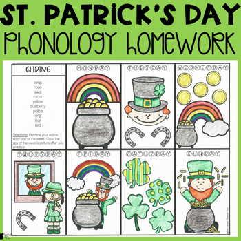 St. Patrick's Day Phonology Homework
