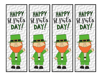 St. Patrick's Day Homework Coupons and Bookmarks FREEBIE