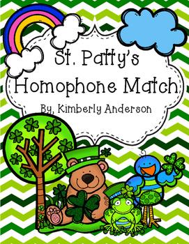 St. Patrick's Day Homophones Match