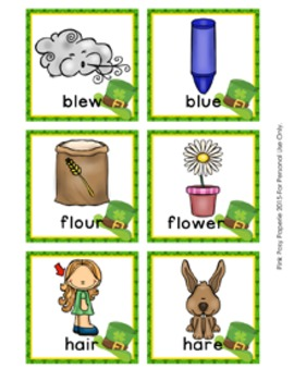 St Patrick's Day Homophone Words Match Game
