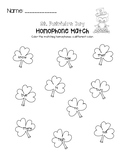 St. Patrick's Day Homophone Worksheet