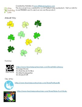 St. Patrick's Day Homophone Worksheet