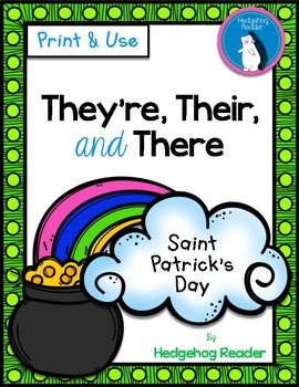 St. Patrick's Day Homophones - They're, Their, and There - No Prep