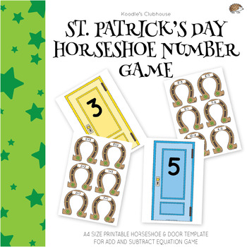 St.Patrick's Day Horseshoe Addition and Subtraction Equation Game