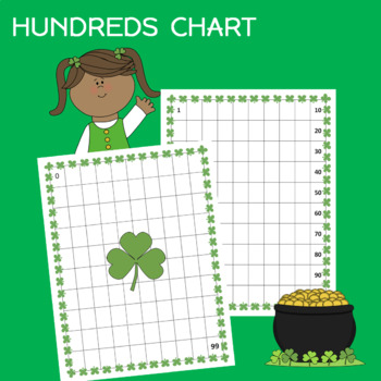 St. Patrick's Day Hundreds Charts Worksheets