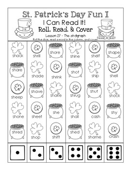 St. Patrick's Day - I Can Read It! Roll, Read, and Cover (Lesson 27)