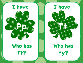 St. Patrick's Day - I Have, Who Has (A-Z)