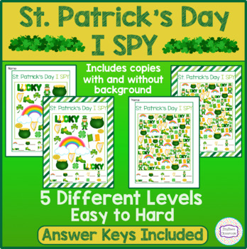 St. Patrick's Day I SPY - Fun Games & Activities