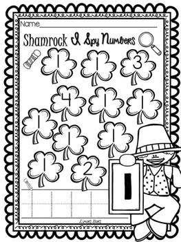 St. Patrick's Day I Spy Numbers 1-10