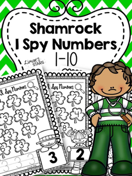 St. Patrick's Day I Spy Numbers 1-10