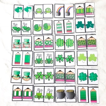 St. Patrick's Day Identical Matching Cards