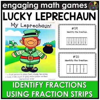 Saint Patrick's Day Identifying Fractions Using Fraction Strips Game