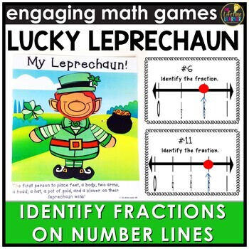 Identifying Fractions on Number Lines Game
