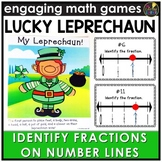 Saint Patrick's Day Identifying Fractions on Number Lines Game