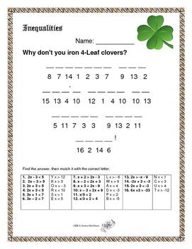 St Patrick's Day Inequalities