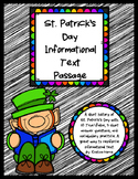 St. Patrick's Day Informational Text Passage